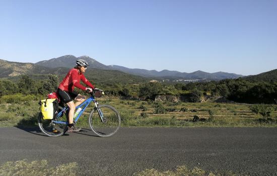 La Mediterranée à vélo aux environs de Maureillas