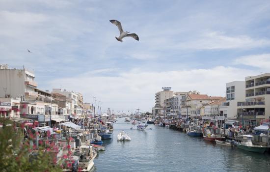 La Mediterranée à vélo à la hauteur de Plavas les Flots