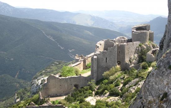 Impressionnant chateau de Peyrepertuse
