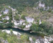 Green water of Tarn river